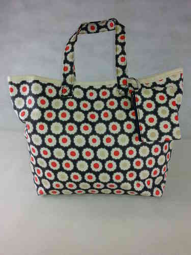 "Oil Shopper Bag ""Flower Burst"" Ulster Weavers"